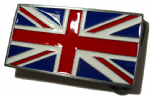 Union Jack British Flag Belt Buckle + display stand. Code CK7
